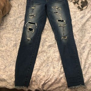 Distressed American Eagle Jeans